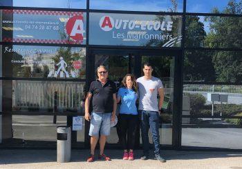L'auto-école Les Marronniers, un nouveau partenaire pour le CSBJ natation.